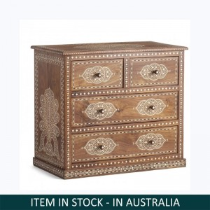 Indian Solid Wood Chest Of Drawers Brown