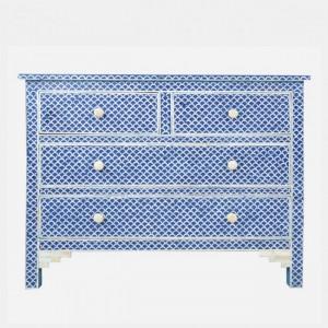 Maaya Bone Inlay Chest of Drawer sideboard Blue