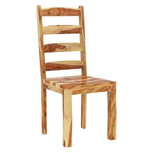Indian Classic Solid Rosewood Ladder Back Dining Chair Natural