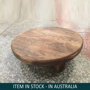 Solid Indian Wooden Chapati Plate Natural
