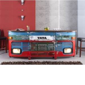 Transport Metal Industrial Jodhpur Truck Home Commercial Bar Counter Blue