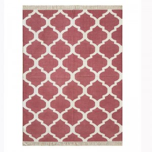Kilim Wool Handwoven Cotton Dhurrie Durry Rug Jute Floor Covering Pattern 35