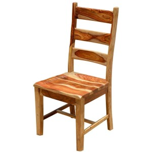 Dallas Indian Solid Wood School Back Dining Chair Natural