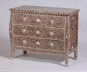 Maaya Bone Inlay Chest of Drawer Sideboard Floral