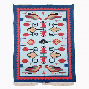 Kilim Wool Handwoven Cotton Dhurrie Durry Rug Jute Floor Covering Pattern 4