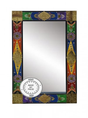 Pandora Indian Solid Wood Mirror With Hand Painted Frame