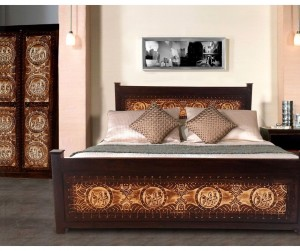 MADE TO ORDER Maharaja Indian Wooden Bed King Mattress