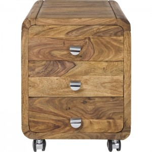 Boston Silver Contemporary Solid Wood Bedside Side Table Drawers on wheels