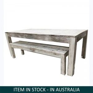 Nirvana Whitewash Dining Bench Setting, Reclaimed wood bench set, Large bench set Australia, Bench Setting Australia, Small Dining Bench Set, Reclaimed wood bench setting