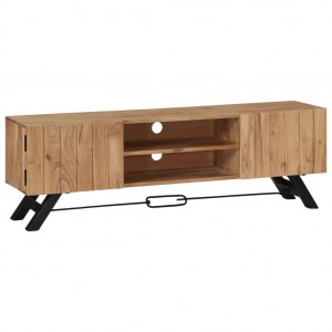 AVALON Solid wood 2Door & 2Shelf Tv Unit Natural