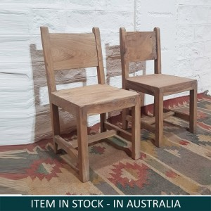 Solid Indian Wooden Seating Kids Chairs Natural