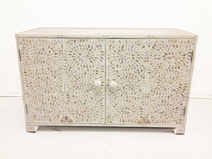 Mother of Pearl sideboard White Floral