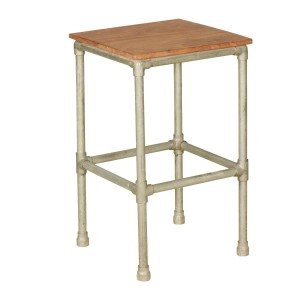 Miller Industrial Solid Wood Square End Table