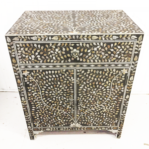 Mother of Pearl sideboard Cabinet Grey Floral