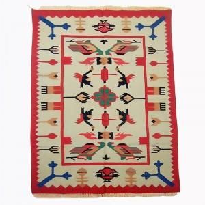 Kilim Wool Handwoven Cotton Dhurrie Durry Rug Jute Floor Covering Pattern 5