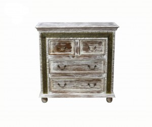 MADE TO ORDER Maharaja Wooden Chest of Drawers 100x40x100 cm