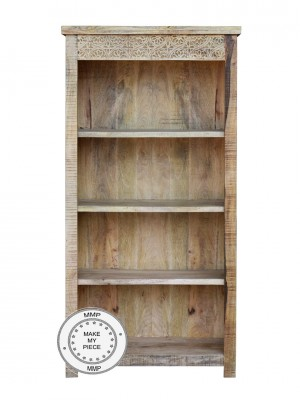Indian Hand Carved Solid Wood Bookcase bookshelf 90x40x180 cm