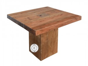 Solid Wood Indian Square Coffee Table Natural