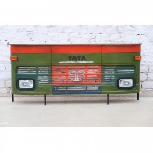 Transport Metal Industrial Jodhpur Truck Home Commercial Bar Counter Green