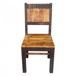 MADE TO ORDER Indian Lyon Wooden Seating Chair Chocolate Brown 45x44x95 cm