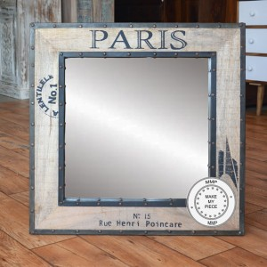 Earth Industrial Indian Solid Wood Frame With Mirror Natural