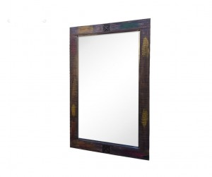 Aspen Indian Reclaimed Wood Frame With Mirror 80 x 120 Cm