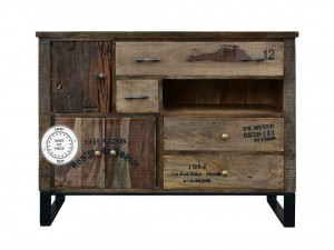 Industrial Chest of Drawers Sideboard Metal Legs