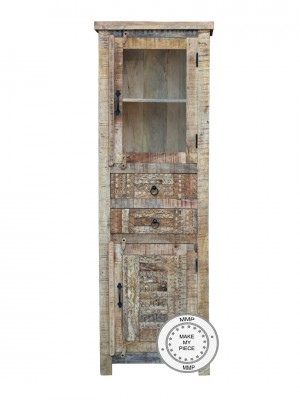 Yennora Indian Solid Wood Display Cabinet Natural  60x40x180 CM