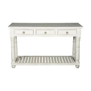 Blanc Indian Solid Wood Console Hall Table With Drawers