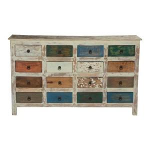 Cromer Indian Mango Wood 16 Drawer Standard Horizontal Dresser