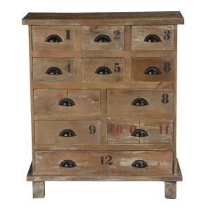 Clovelly Indian Solid Wood 11 Drawer Standard Vertical Dresser