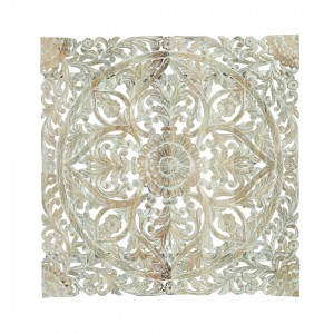 Indian Oriental hand carved decorative Bed panel White