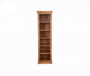 Indian Solid Wood  Open Bookshelf With 6 Shelves Natural L60 x D40 x H200 cm