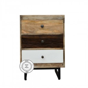 Industrial Small chest of Drawers Table Metal legs