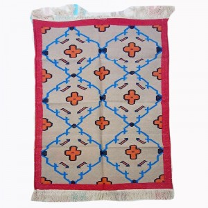 Kilim Wool Handwoven Cotton Dhurrie Durry Rug Jute Floor Covering Pattern 7