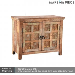 Block Print Reclaimed boat wood Sideboard Buffet