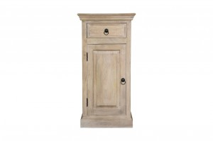 MADE TO ORDER Indian Mango Classic Wooden Bedside Table White