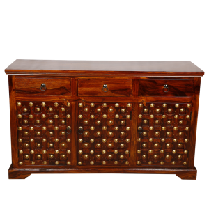 Mogra Antique Brass Work Sideboard Brass Work Design