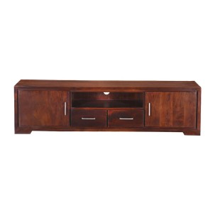 Cromer Indian Solid Wood Two Drawer  TV Unit Console Cabinet