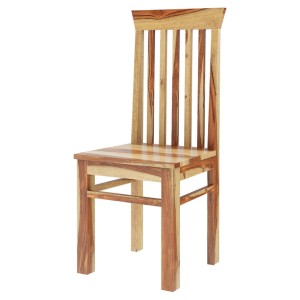 Rustic Mission Style Solid Rosewood Dining Chair Natural