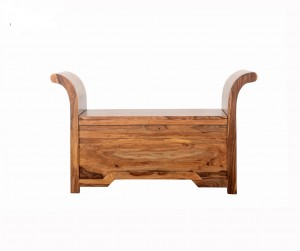 Indian Solid Wood Console Hall Table With Storage Box 110 x 40 x 65 cm