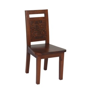 Parkerton Handcrafted Mahogany Wood Log Back Dining Chair