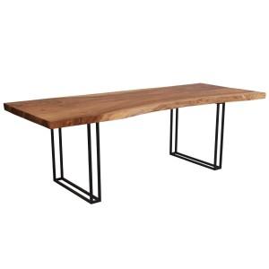 Single Slab Live Edge Mariemont Solid Wood Large Dining Table
