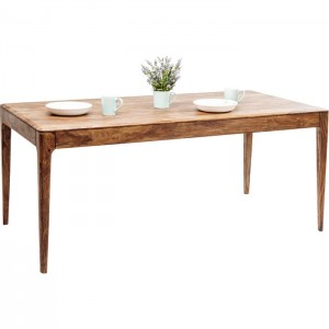Boston Taper Contemporary Solid Wood Rectangular Dining Table Natural 175 cm
