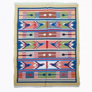 Kilim Wool Handwoven Cotton Dhurrie Durry Rug Jute Floor Covering Pattern 8