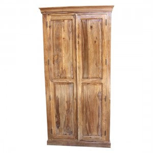 Indian Solid Wood Cabinet Natural  100 x 60 x 200 Cm