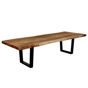 Agrestic Rustic Style Suar Wood Live Edge Dining Table