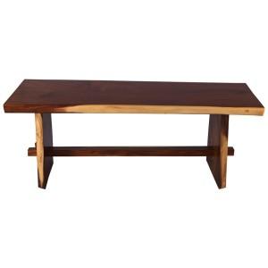 Marietta Handcrafted Suar Wood Single Slab Live Edge Dining Table