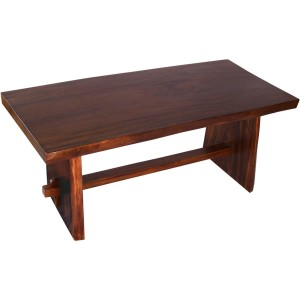 Acron Live Edge Rustic Dining Table With Trestle Base