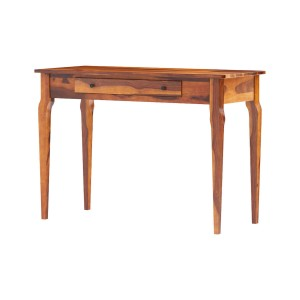 Alamance Rustic Solid Wood Home Office Writing Desk with Drawer